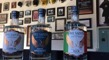 Five Saints Whiskey, Vodka and Gin
