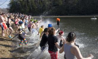 New Years Day Polar Plunge into Lake Lure