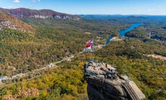Fall in Chimney Rock State Park