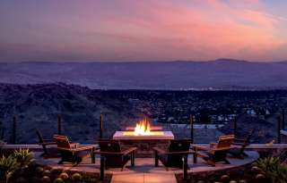 ritz fire pit sunset