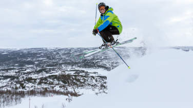 Off piste skier in Geilo