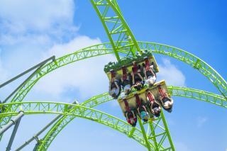 Adventureland Monster Rollercoaster Des Moines Iowa