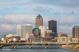 Downtown Des Moines, Iowa skyline daytime