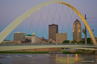 Downtown Skyline with Women of Achievement Bridge