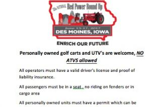 Golf Cart Rental Red Power Round Up