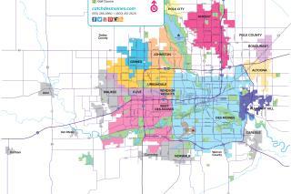 Des Moines Metro Map