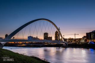 Iowa Women of Achievement Bridge over the Des Moines River Downtown Des Moines