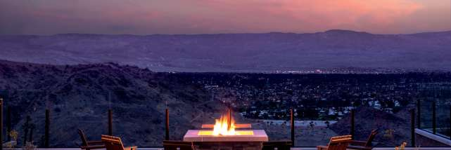ritz fire pit sunset