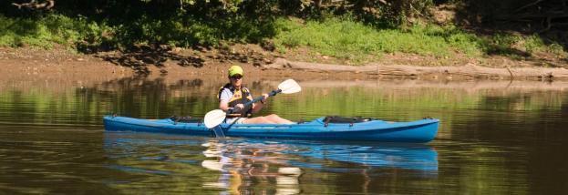Canoe in Potomac River