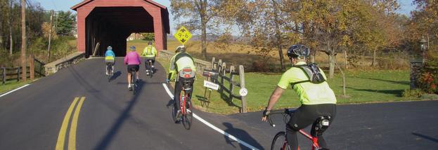 Coverd Bridge Bicyclists