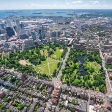 Boston Common Aerial