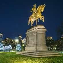 GW Statue at Night