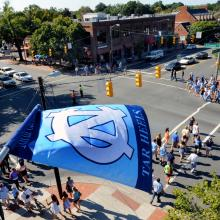 Franklin Street in Downtown Chapel Hill from Top of the Hill Restaurant