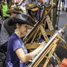 Artist at an Easel - Dogwood Festival