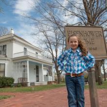 Macey at Eisenhower Home