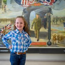 Macey at Eisenhower Museum