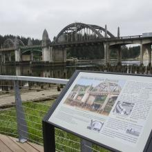 Siuslaw Bridge in Historic Old Town Florence