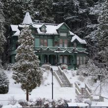 Shelton McMurphey Johnson House in Snow by Colin Morton