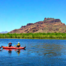 Paddle boarding down the Salt River