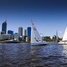 Sailing on the Swan River, Perth City