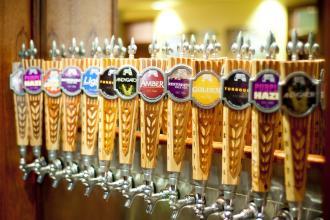 Abita tap handles at Abita Brewery