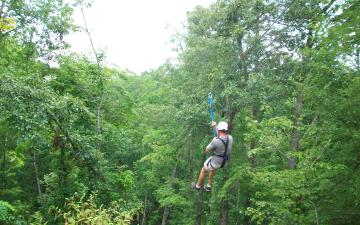 Zipline Through the Forest in Lake Lure