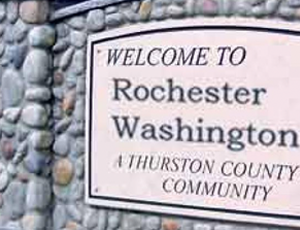 Welcome to rochester sign