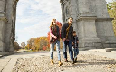 Family at Valley Forge Arch