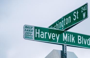 Harvey Milk Blvd Street Sign
