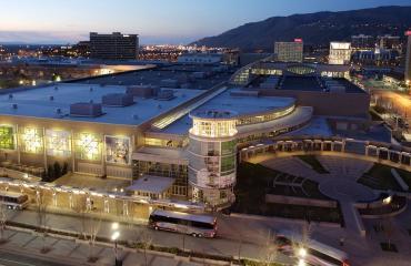 Salt Palace Convention Center Night Lights