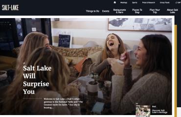 Visit Salt Lake Website Screenshot