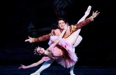 "Ballet West's Christiana Bennett and Christopher Ruud in ""The Nutcracker"""