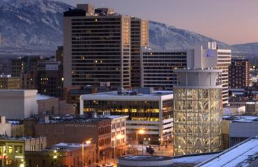 Downtown Salt Lake at Night