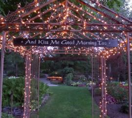 Avon Gardens wedding sign