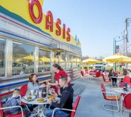 Oasis Diner Patio Seating