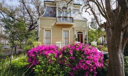 Esplanade Ave & North Dorgenois - Springtime Architecture - Azaleas