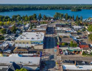 Minocqua from the air