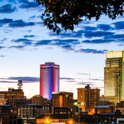 Omaha Skyline on July 4th
