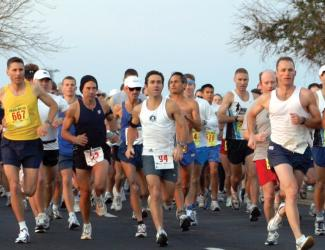 Runners in 5k event