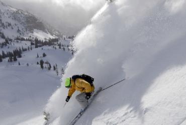 Skiing on Snowbird