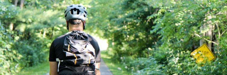 White Pine Trail biking - edit for cover image