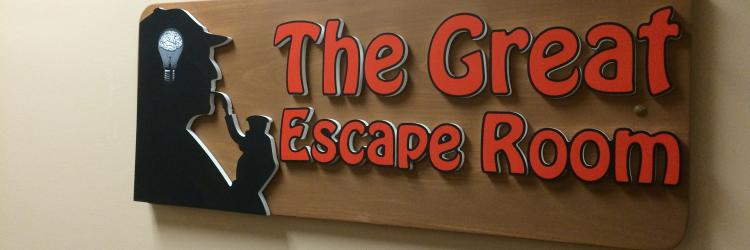 The Great Escape Room entrance