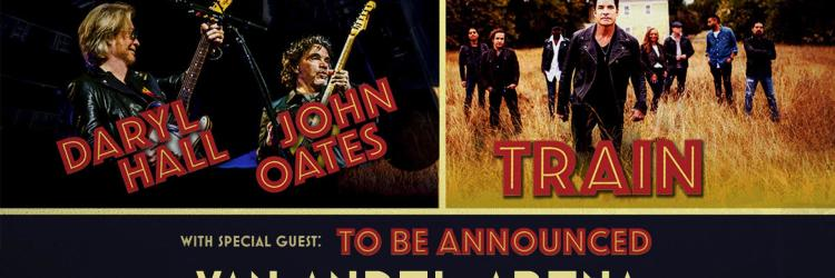 Daryl Hall & John Oates and Train to join forces at SMG-managed Van Andel Arena®