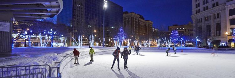 Ice Skating - Rosa Parks Circle