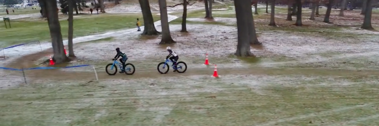 Fat biking at Indian Trails Golf Course