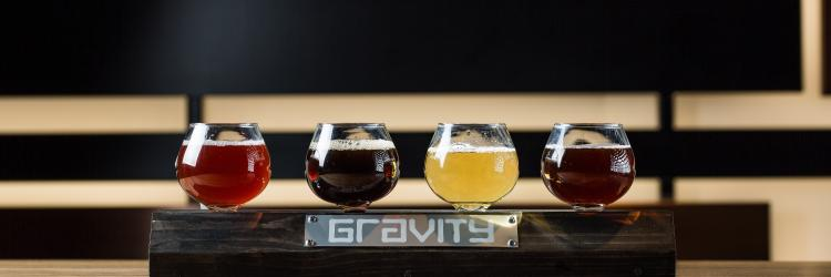 Gravity Taphouse beer flight - header size