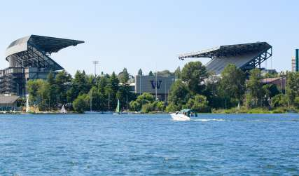 University of Washington Husky Stadium View from the Water