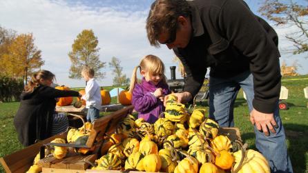 Farm pumpkins family - Photo courtesy the Adirondack Coast Visitors Bureau