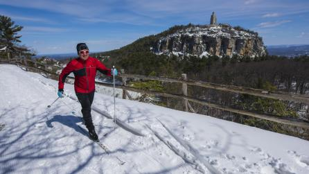 Cross-country skiing at Mohonk Mountain; Photograph: © NYS Dept. of Economic Dev-NYSDED