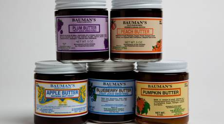 BAUMAN'S FAMILY PA DUTCH FRUIT BUTTERS AND CIDER